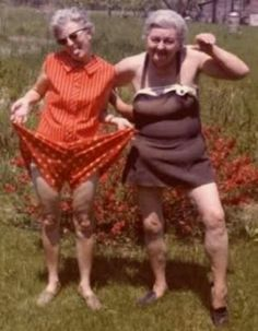 Pictures of old ladies in swimsuits