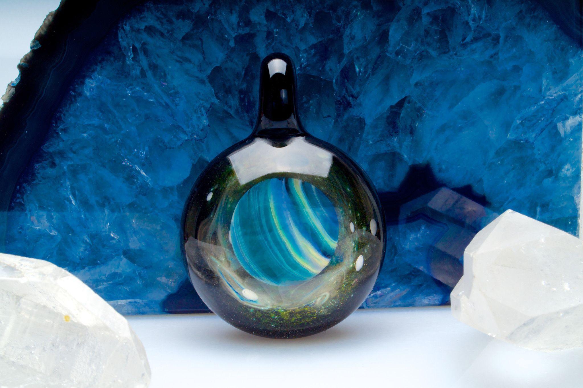 """Gateson-Recko """"Gaseous Planet"""" Pendant $ 350"""