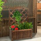 Details about Garden Raised Bed with Trellis Planter Box Grow Flower Ve able Free Stand Yard
