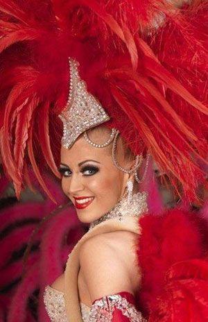 GOLD Moulin Rouge CABARET martedì grasso Showgirl Burlesque HEADDRESS FANCY DRESS