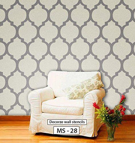 Reusable Moroccan Pattern Stencil Ms 28 Decorze Http Www Amazon