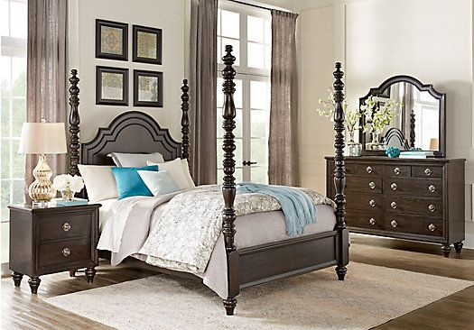 Westerleigh Oak 5 Pc Queen High Poster Bedroom 1 199 99 Find Affordable Sets