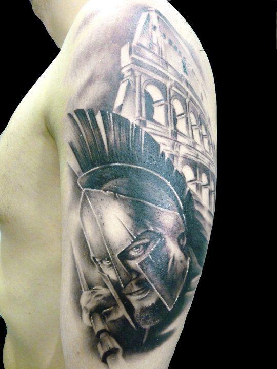 gladiator tattoos tattoos pinterest demon tattoo roman and warriors. Black Bedroom Furniture Sets. Home Design Ideas
