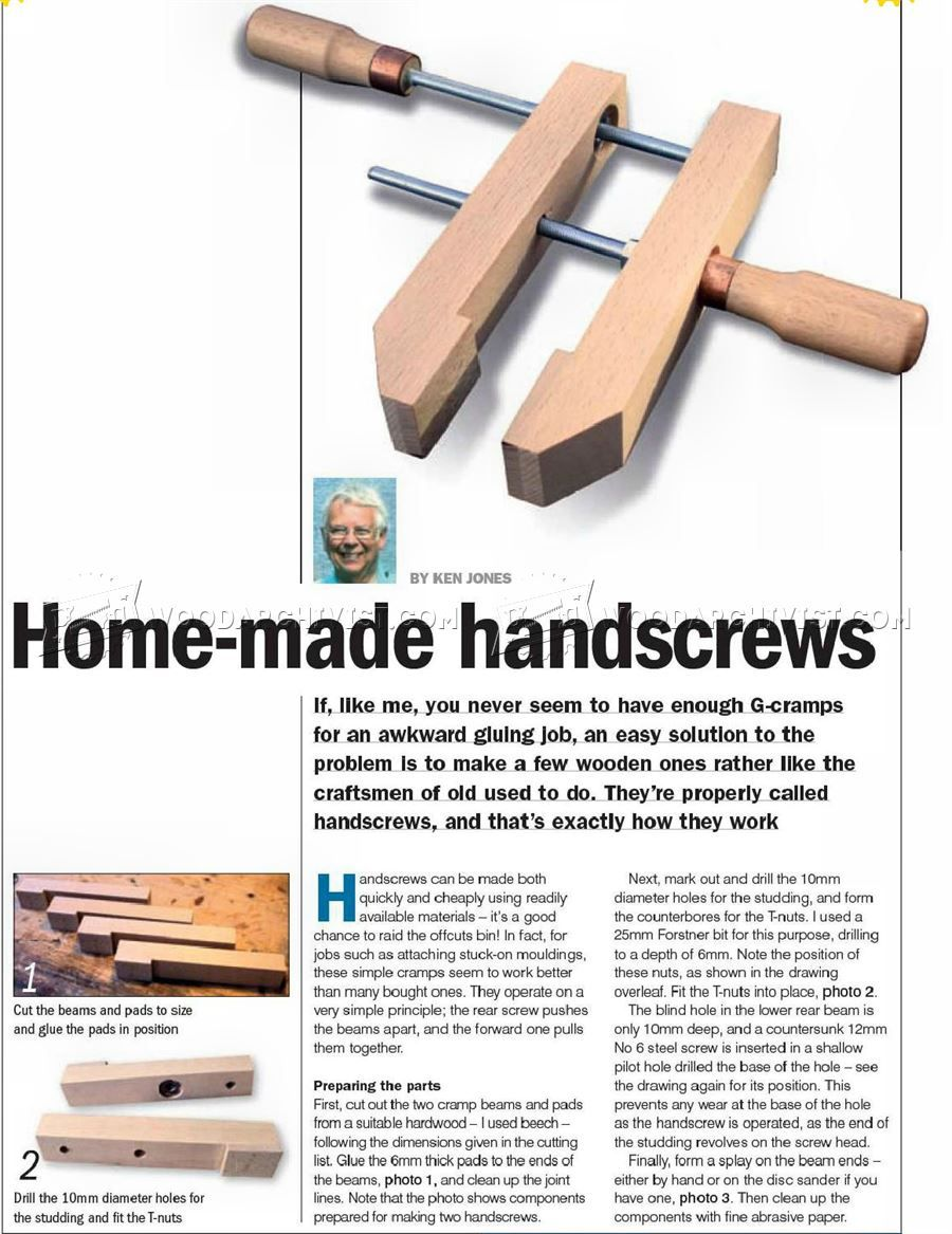 homemade hand screw clamps - clamp and clamping | grandpa's
