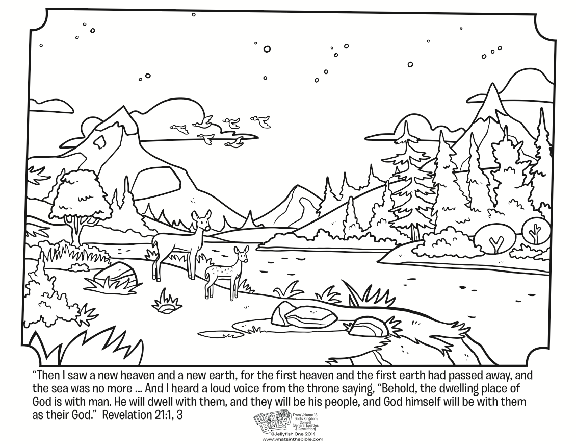 Free coloring pages elijah goes to heaven - Revelation 21 Coloring Page