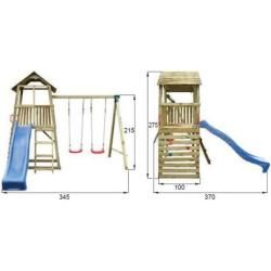 Photo of Reduced play towers & climbing towers