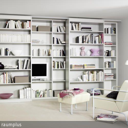 b cherregal zum verschieben verschoben fernseher und. Black Bedroom Furniture Sets. Home Design Ideas