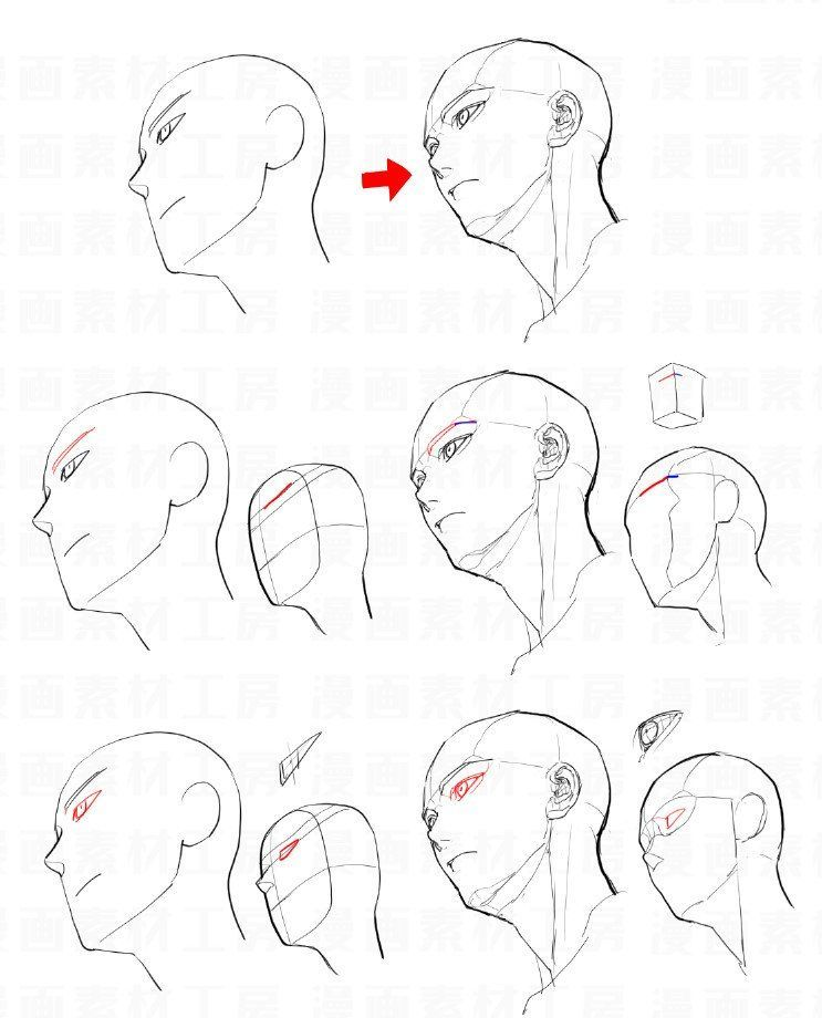 Mangamaterials Tesco On Twitter The Differences Between Beginner S Drawing With Advanced Structure Of The Face 3d Drawing Tutorial Drawings Drawing Tutorial