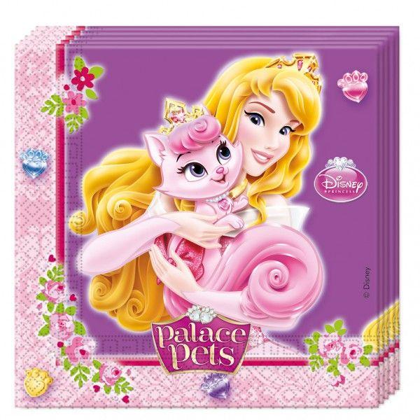 20 Servietten Disney Princess Palace Pets - Kaufen bei Kids Party World