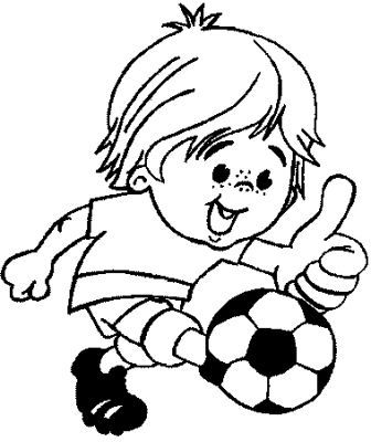 transmissionpress Boy Kicking a Soccer Ball  Kids Coloring Pages