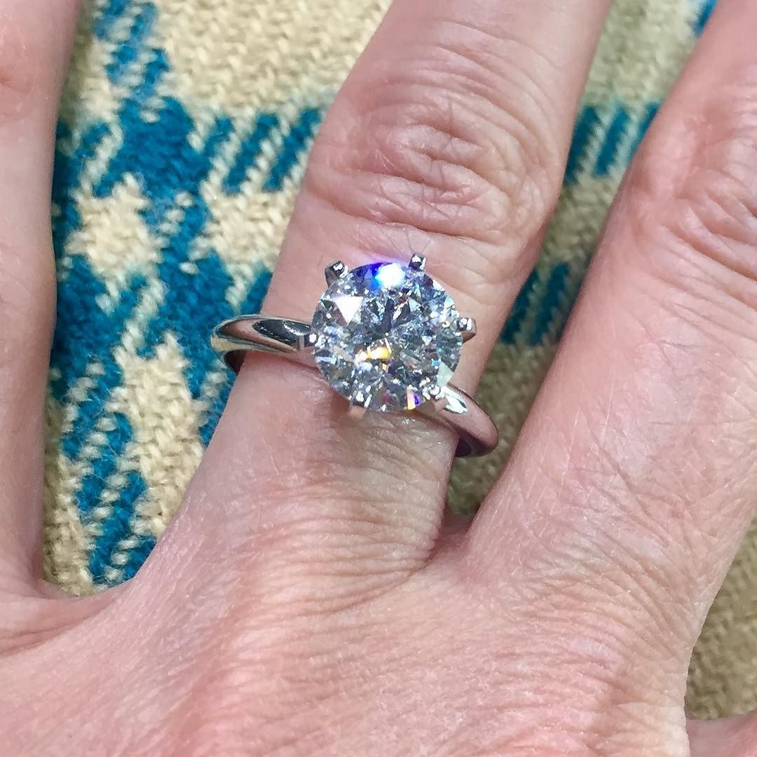 Good Morning Beautiful Classic six prong set solitaire engagement ...