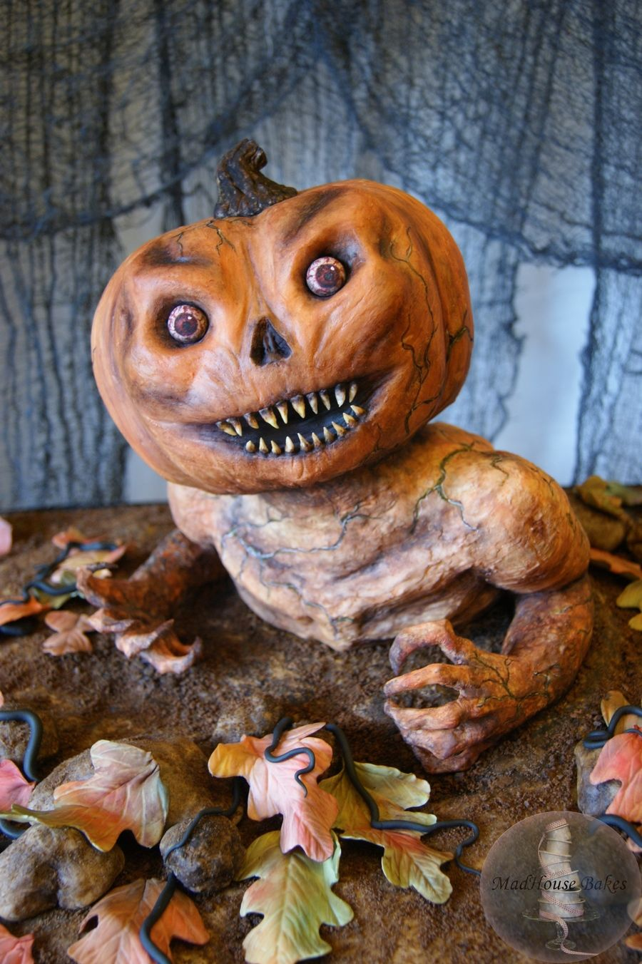 a pumpkin monster birthday cake a pumpkin monster birthday cake this is the scary halloween - Scary Halloween Dessert