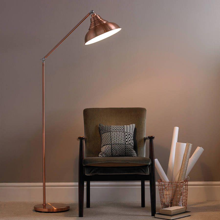 Copper Vintage Metal Floor Lamp Vintage floor lamp