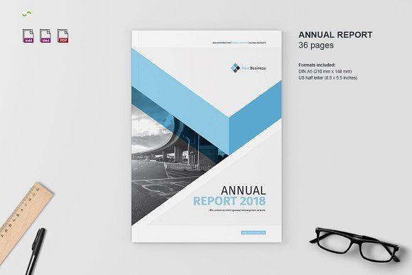 annual report 2018 by imagearea on creativemarket graphic design