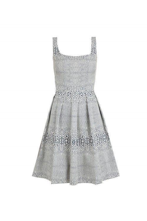 ISSA london Tailored Jacquard Dress