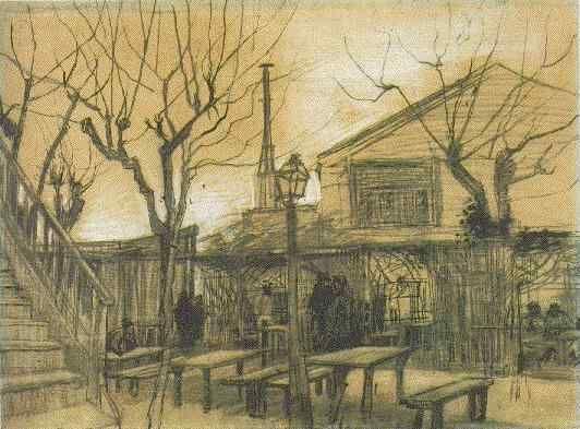 Guinguette, A  Paris: February-March, 1887 (Amsterdam, Van Gogh Museum)