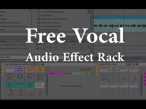 Vocal Audio Effect Rack In Ableton Live Ableton Music Tutorials Music Recording Studio