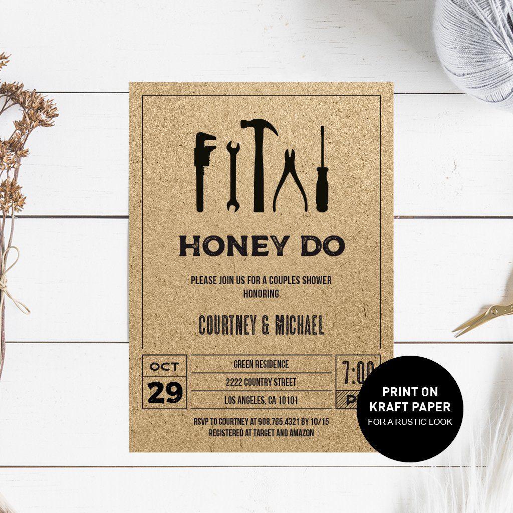 Honey Do Shower Invitation Honey do shower, Shower