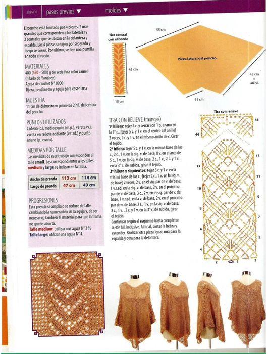 crochet | ponchos de crochet | Pinterest | Croché, Ganchillo y Tejidos