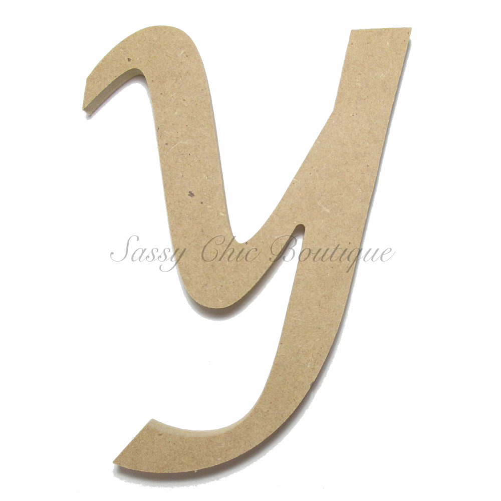 Unfinished Wooden Lowercase Letter Y