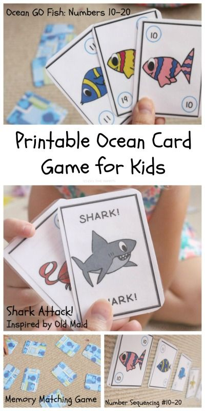 image relating to Printable Go Fish Cards titled Shift Fish Quantities Printable Card Recreation Higher education Season Snippets