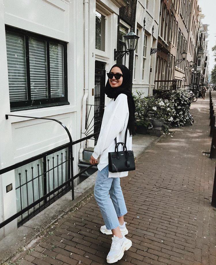 Pin Oleh Kailla Alissa Di Outfit Gaya Hijab Gaya Kasual Gaya Busana