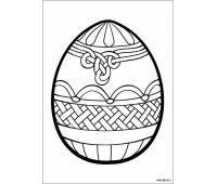 Пасхальное яйцо, раскраска   Раскраски, Пасхальные яйца, Яйца