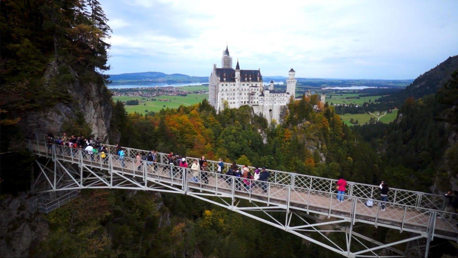 English Marienbrucke Mary S Bridge Is A Bridge Located Near The Famous Neuschwanstein Castle In Hohenschw Neuschwanstein Castle Germany Castles Scary Bridges