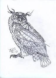 Mechanical Art Drawings Google Search Steampunk Tattoo Owl Tattoo Design Steampunk Illustration