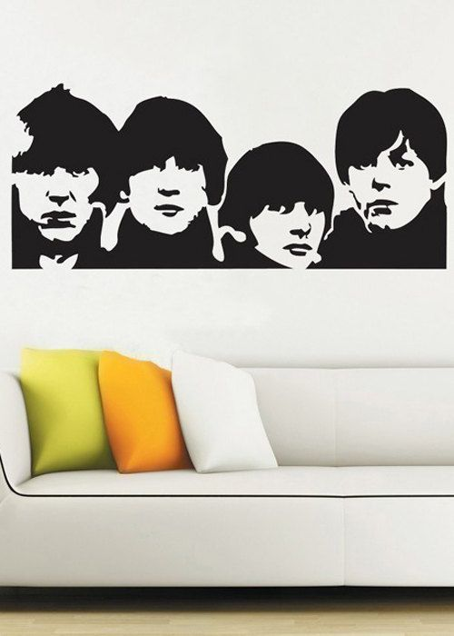 Beatles - uBer Decals Wall Decal Vinyl Decor Art Sticker Removable Mural Modern A155  sc 1 st  Pinterest & Beatles - uBer Decals Wall Decal Vinyl Decor Art Sticker Removable ...