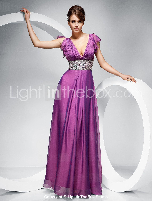 Vestido de Noche de Gasa. bridesmaids but they may look better than ...
