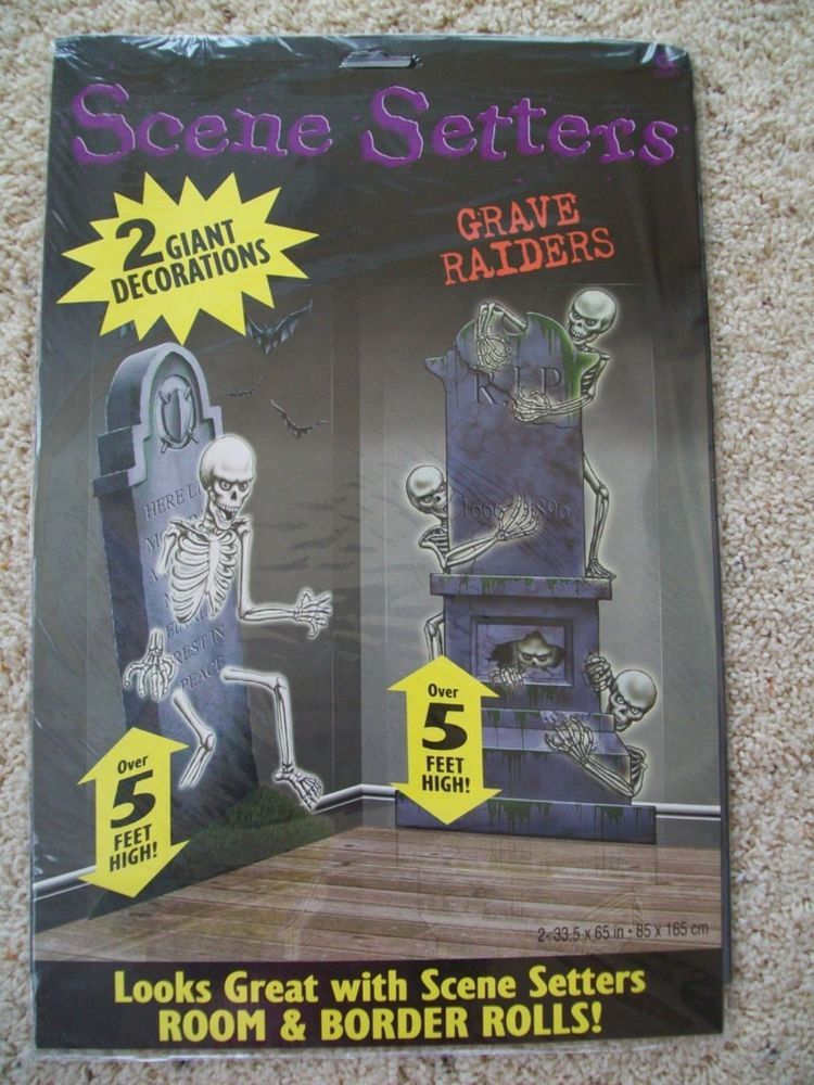new halloween 2 giant decorations scene setters grave raiders