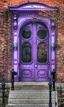 Cool Door Cool Doors Purple Door Unique Doors