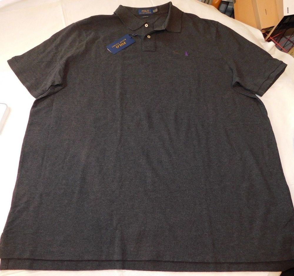0a5497ee Polo Ralph Lauren Short Sleeve Polo Shirt XXL Classic Fit 735122 Dark Grey  Hthr #PoloRalphLauren #PoloShirt