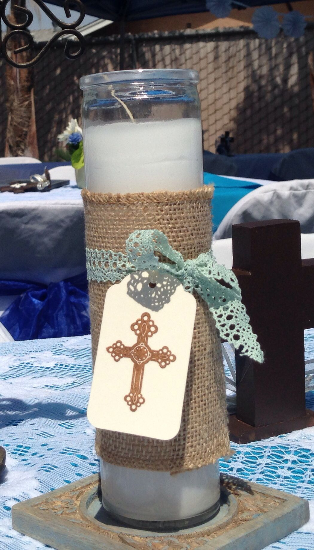 Baptism boy baptism boy party decorations christening centerpiece vintage baptism - Decorations for a baptism ...