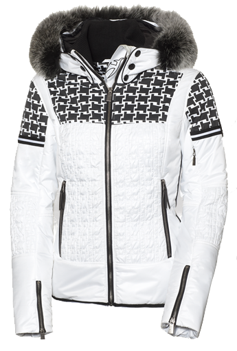 Toni Sailer Daphne Fur Womens Ski Jacket White  b442d0b60