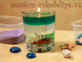 Гелевая свеча новогодняя своими руками