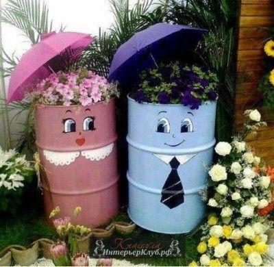 Как украсить сад своими руками новые фото