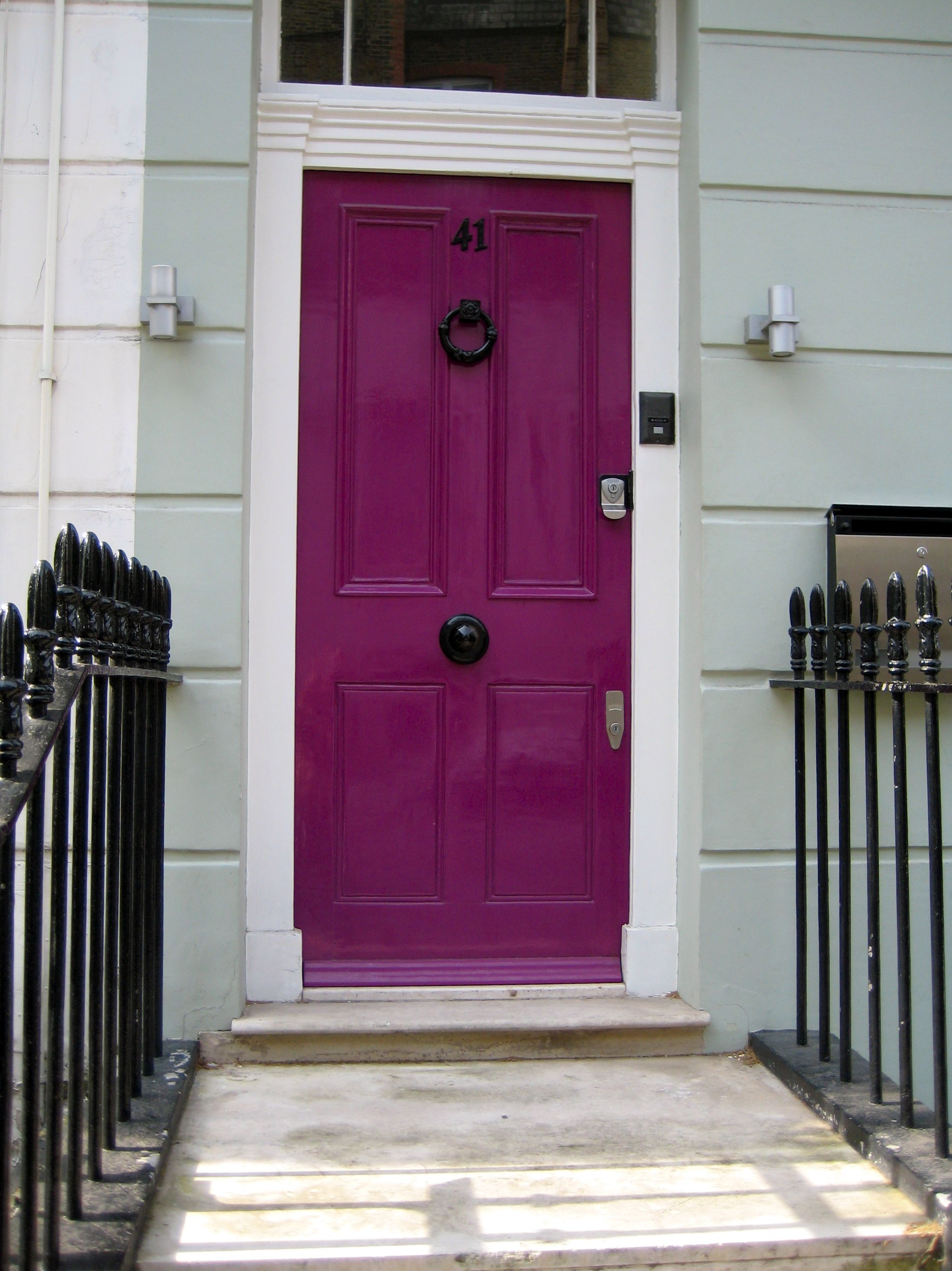 Accessories & Furniture,Chic French Country Entry Doors With Pink ...