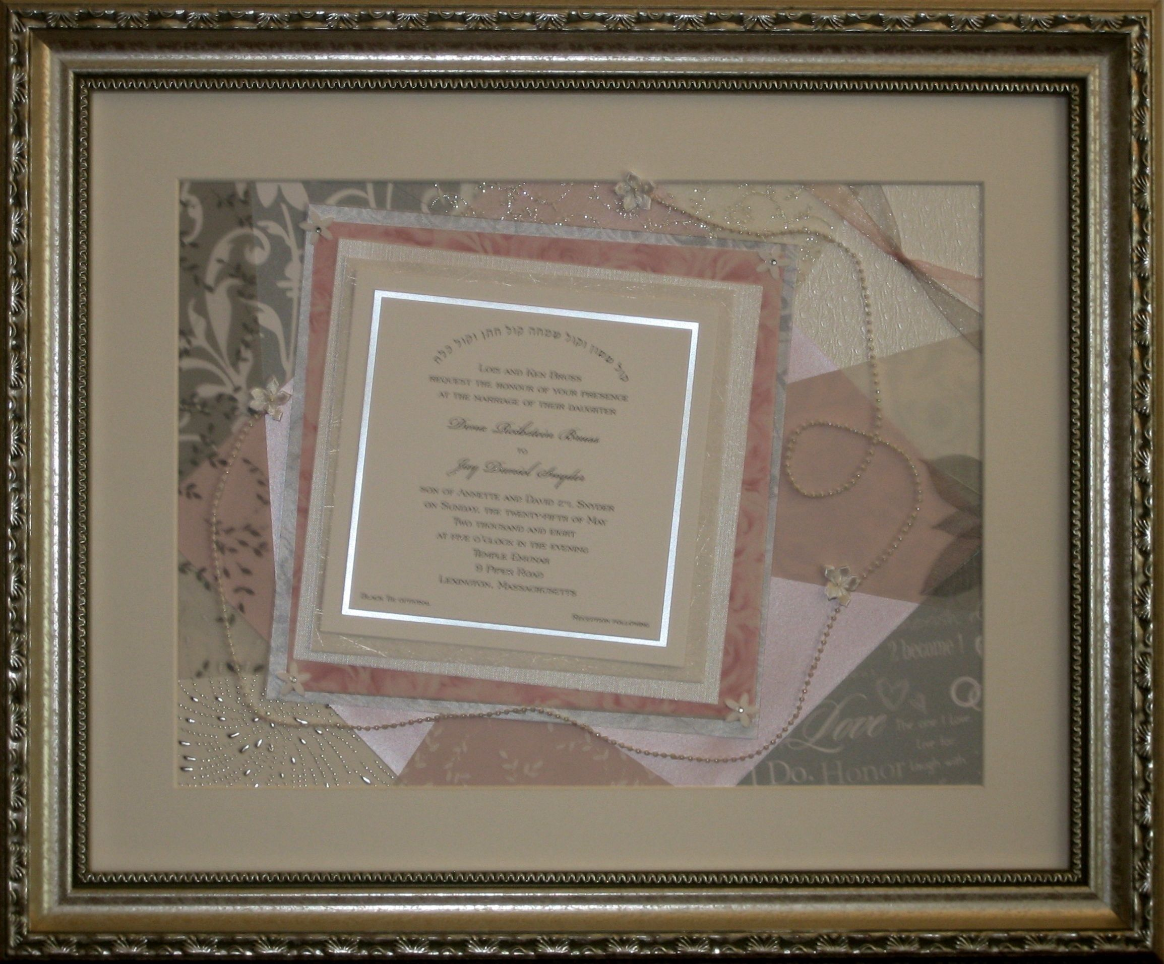 Silver And White Plus Pink The Brides Favorite Color This Framed
