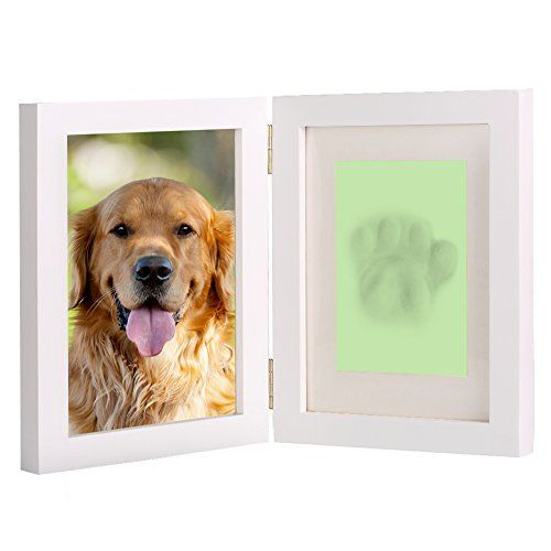 963ecbde189d Dog Memorials - White Personalized Dog or Cat Pet Memorial Frame Paw Prints  Desk Photo Frame Modern Wall Hanging Double Picture Frames with Clay  Imprint Kit ...