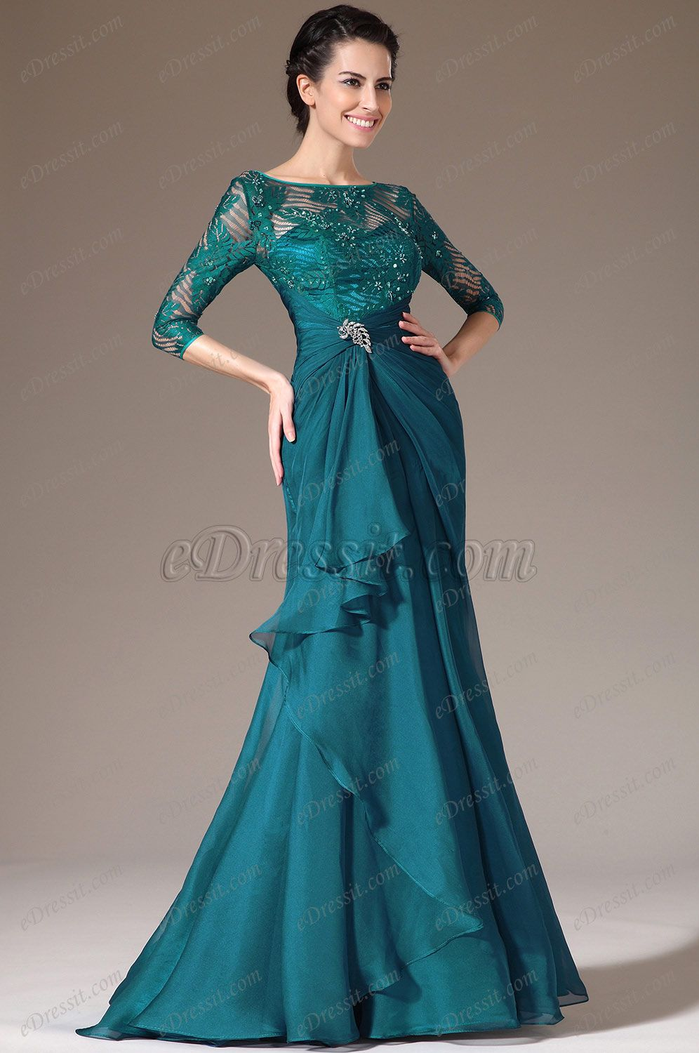 Looking for low price but high quality eDressit Green Lace Top Half ...