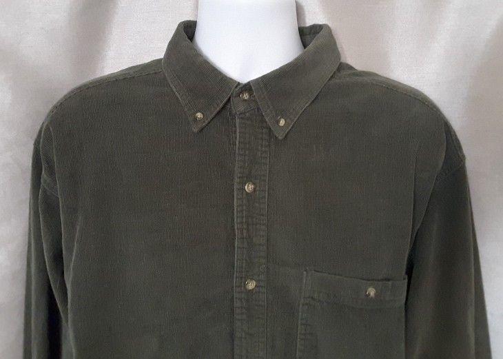 b488bc668c50 Northwest Territory Men's Green Long Sleeve Button Down Corduroy Shirt Size  XLT #NorthwestTerritory #ButtonFront