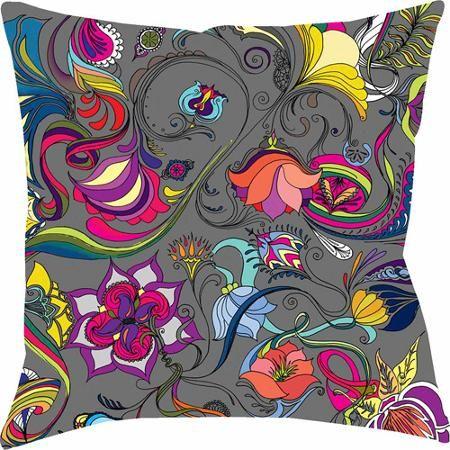 Thumbprintz Magic Garden Pillow Garden Pillows Grey