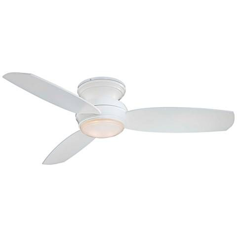 44 Traditional Concept White Flushmount Led Ceiling Fan 19w31
