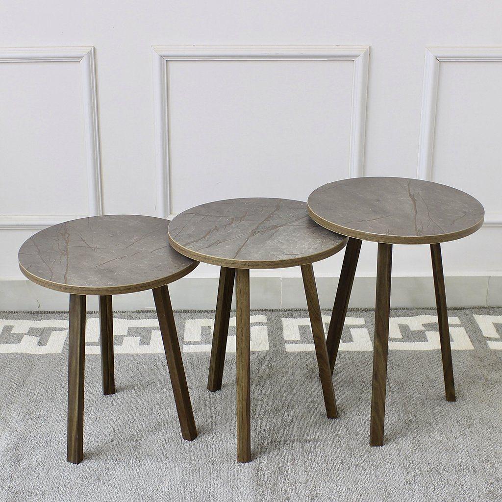 طقم طاولات دائري Coffee Table Table Decor