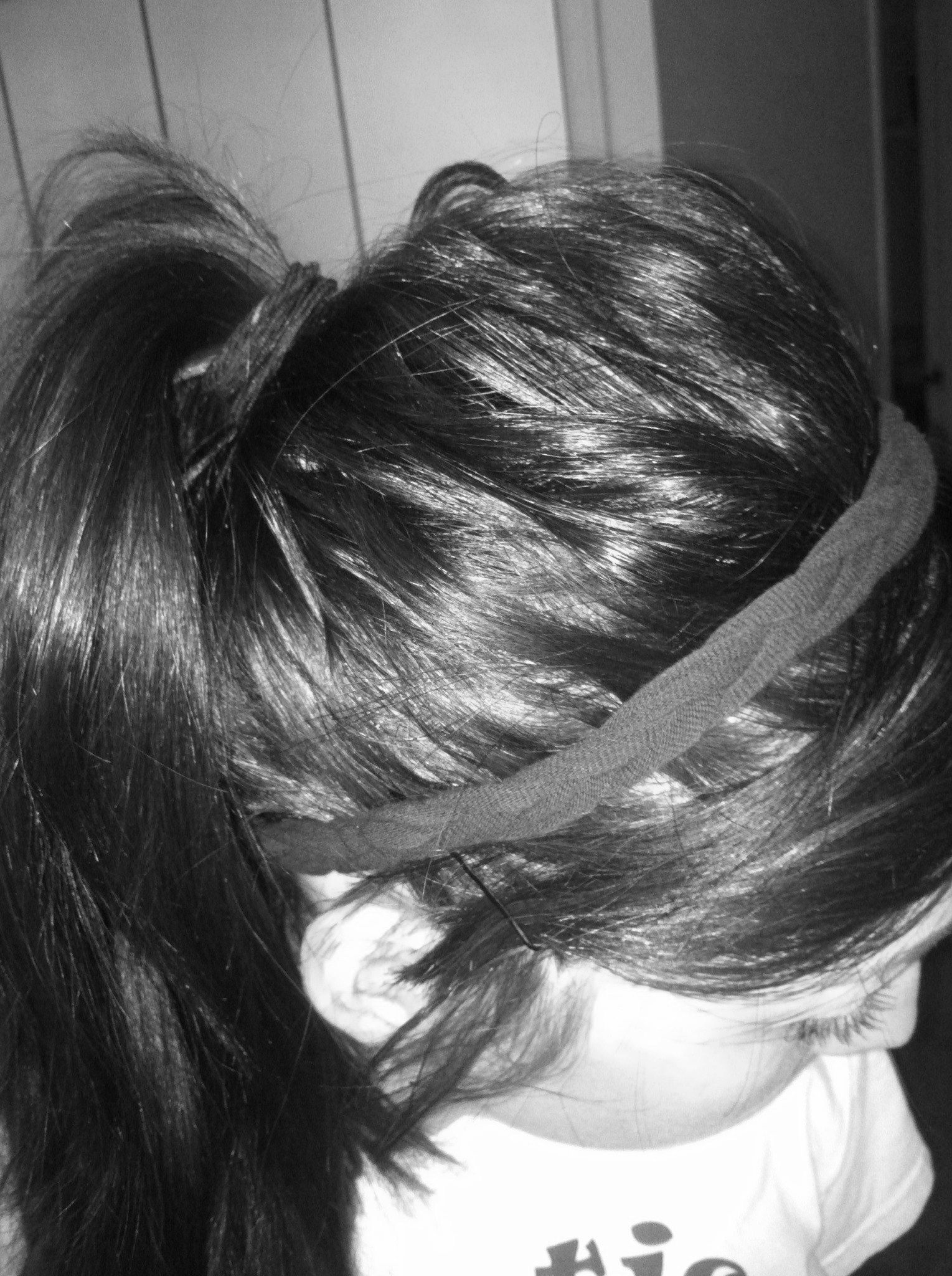 Headband made out of an old tshirt simple cute long