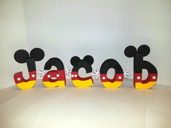 mickey mouse wood name letters price per by kierstendesigninc
