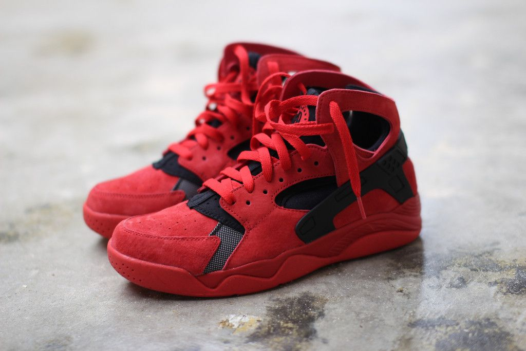 sneakers for cheap 62747 4ac46 ... norway nike air flight huarache university red black suede 705005 600  8c2dc e824c