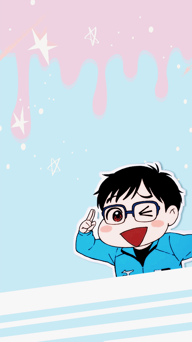 Wellerconrad Chibi Katsuki Yuri Wallpapers 640x1136 Anime Backgrounds Wallpapers Yuri Yuri On Ice